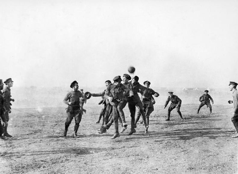 Football in the midst of World War One. Back in the days when players wore their international caps while representing their nation.