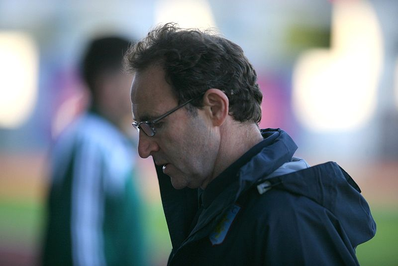 Martin O'Neill looking slightly sad. He probably cheered himself up by attending a murder trial or two.