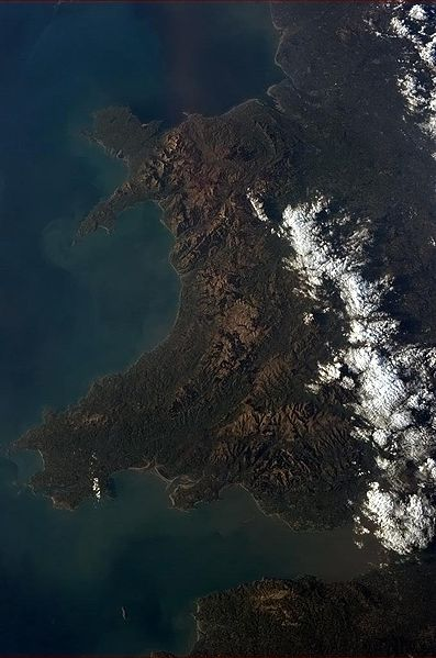 This is what Wales looks like from space... if you squint really hard.