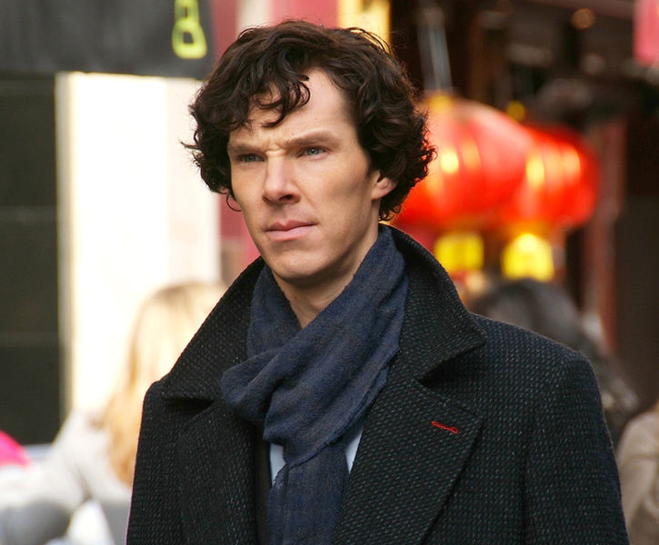 Benedict Cumberbatch, pictured filming Sherlock