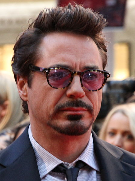 Robert Downey Jr, pictured between smirks.