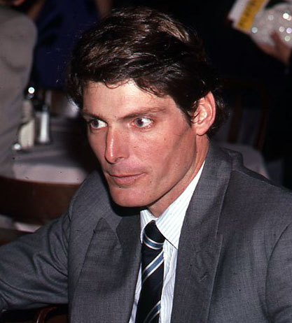 Christopher Reeve pictured, if I've understood the Wikimedia description correctly, shortly before his marriage to Figaro.