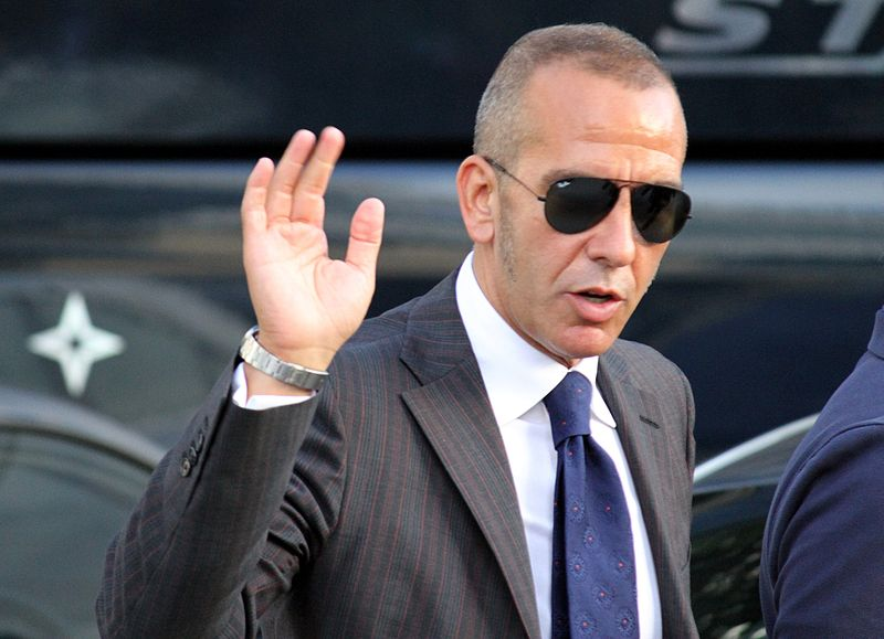 Paolo di Canio, a fan of waving.