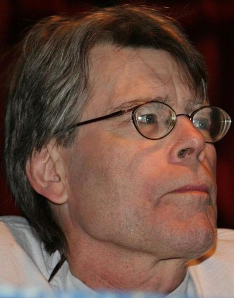 Stephen King, photographed at an angle that allows the viewer to see his nostril hairs.