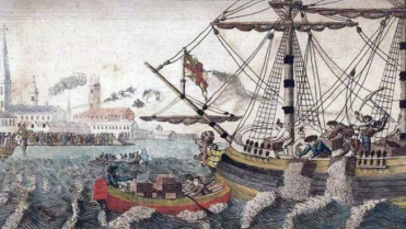 Boston_Tea_Party by WD Cooper Uploaded by Cornischong              Taken from Wikimedia Commons