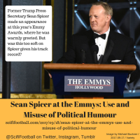 Sean Spicer at the Emmys: The Use and Misuse of Political Humour
